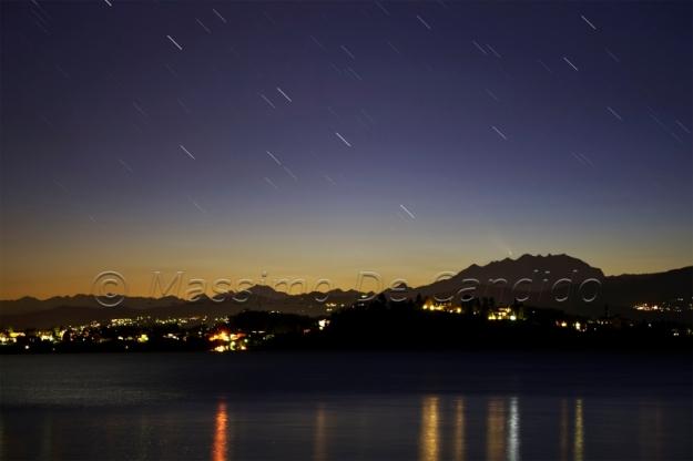 Cometa Pan-STARRS C/2011 L4 e Monte Rosa
